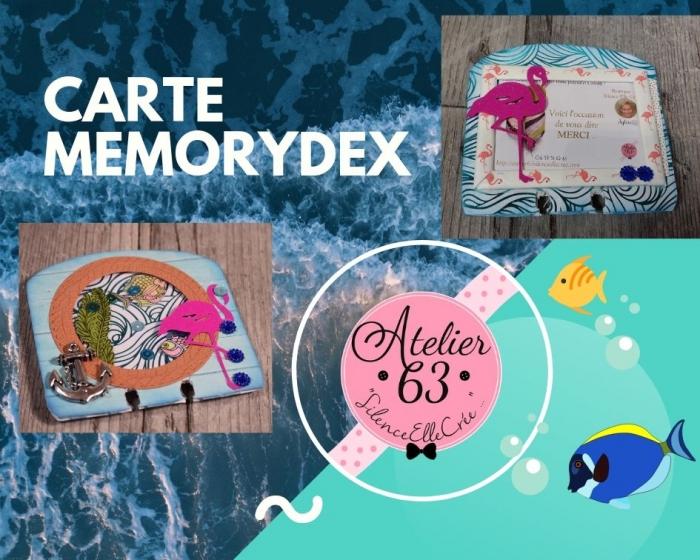 Atelier CARTERIE : Fabriquer une carte MEMORYDEX effet shaker à échanger ou à offrir , TUTORIEL