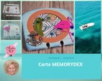 Atelier CARTERIE : Fabriquer une carte MEMORYDEX effet shaker en échange ou à offrir , VIDEO