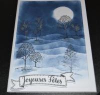 Atelier Carterie : Paysage vallonné et arbres, Nuit d'hiver, tutoriel