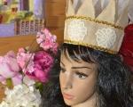 ATELIER TUTO COUTURE FACILE : Couronne de l'Epiphanie avec fleurs en dentelle, tutoriel