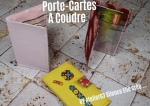 Atelier COUTURE FACILE/ bricolage : COUDRE un  PORTE-CARTES en tissu,  TUTORIEL