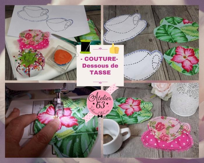 Atelier COUTURE FACILE : CONFECTIONNER de jolis et originaux DESSOUS DE TASSE / VERRE / MUG - DIY, TUTORIEL