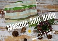 Atelier COUTURE FACILE : CONFECTIONNER un  MASQUE ANTI BUEE Tissu Bio ZERO DECHET  lavable 60°C & réutilisable, Gestes Barrièr,  TUTORIEL
