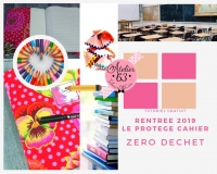 Atelier COUTURE FACILE : Confectionner un PROTEGE-CAHIER, ZERO DECHET , VIDEO