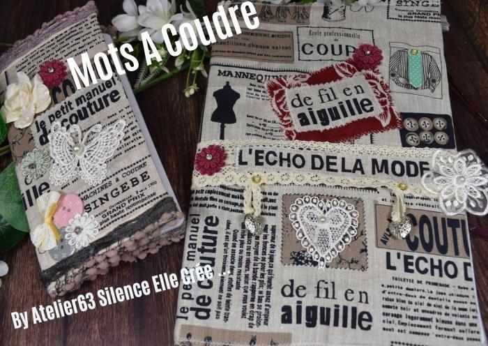 Atelier COUTURE FACILE : COUDRE des Mots, PERSONNALISER SES COUVERTURES DE CAHIERS ET CARNETS de COUTURE, couture facile , TUTORIEL