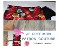 Atelier COUTURE FACILE : Réaliser un PATRON en PAPIER à partir d'un petit haut cousu, VIDEO