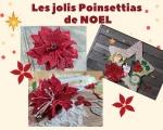 ATELIER de NOEL - HOME DECO : Réaliser un POINSETTIAS EN MOUSSE thermoformable pour Créations SUSPENSIONS de NOEL à SUSPENDRE BOULE, ETOILE, FLOCON DE NEIGE, TUTORIEL