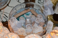 ATELIER de NOEL : Une CRECHE dans une BOULE de NOEL transparente XXL, TUTORIEL