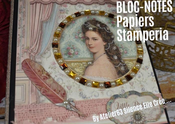 ATELIER de SCRAP - CARTERIE :  Fabriquer  UN BLOC NOTES en utilisant  la collection FOREST de STAMPERIA ,TUTORIEL