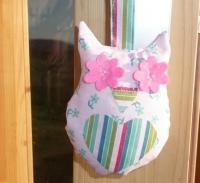 ATELIER COUTURE FACILE - ENFANTS  : Confectionner avec les enfants une petite CHOUETTE en tissu PORTE CLES, TUTORIEL