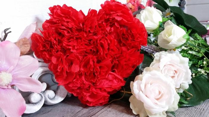 Atelier HOME DECO - FESTIF : Fabriquer un COEUR DECO rempli de Fleurs Rouges en papier  pour la ST VALENTIN - DIY, TUTORIEL