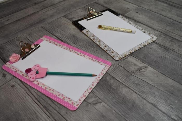 Atelier Home déco : Organisation et Créativité, le clipbord (pince Notes), vidéo