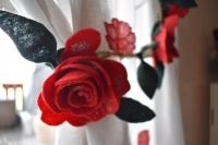 Atelier HOME DECO : Réaliser une guirlande de ROSES (à coudre ou à coller) pour son Intérieur DECO,  VIDEO