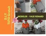 Atelier MODELAGE : Fabriquer un petit VASE à base de récup et modelé en forme de RENARD, VIDEO