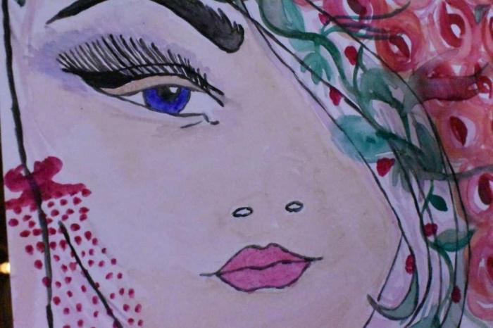 Atelier Peinture facile : Aquarelle, femme et roses, vidéo