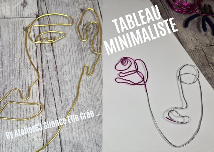 Atelier PEINTURE FACILE - ART ABSTRAIT : tableau DECO Tendance Minimaliste ART DECO avec Pâte de structure, pochoir et Fil Alu,  TUTORIEL
