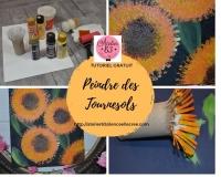 Atelier Peinture Facile : Peindre sans pinceau des Tournesols, vidéo