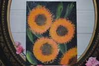 Atelier Peinture Facile : Peindre sans pinceau Tournesols et Pissenlits, tableaux abstraits, Tutoriel