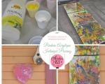 Atelier Peinture Facile : Réaliser des tableaux  avec la technique du Pouring, PEINDRE un tripytique et un Châssis en forme de  coeur,  VIDEO