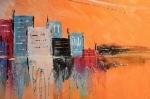 Atelier Peinture Facile : Réaliser un tableau à l'acrylique, PEINDRE un PAYSAGE URBAIN, dans un COUCHE de SOLEIL avec reflets sur une PIECE D'EAU , VIDEO