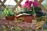 ATELIER Récup. HOME DECO: Transformation d'une cagette en suspension pour plantes Déco embossage feuilles ALUMINIUIM, TUTORIEL