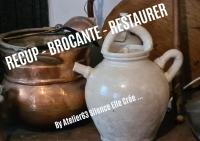 Atelier RECYCLAGE - BROCANTE - MODELAGE : Restaurer un OBJET ANCIEN cruche ou potiche ancienne MODELER des PIECES CASSEES,  TUTORIEL