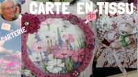 ATELIER SCRAP CARTERIE :  CARTE en TISSU ou ETIQUETTE CADEAU, VIDEO