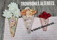 Atelier SCRAP DECO : Décorer des trombones en bouquet - trombones altérées,  TUTORIEL