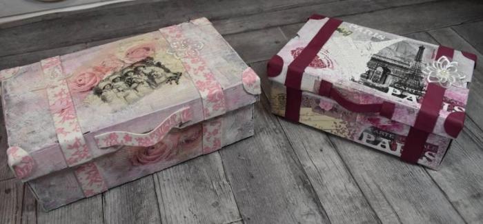 Atelier RECYCLAGE/SCRAP DECO : Mes valises en carton, vidéo
