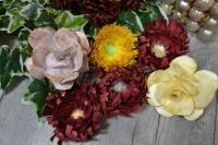 ATELIER SCRAP DECO/ FESTIF : Réaliser des fleurs en papier pour une COURONNE DE PORTE , boule de  dahlias et roses, TUTORIEL