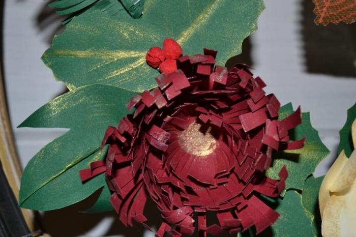 Atelier Scrap Déco : Réaliser le feuillage d'une couronne en papier, HOUX/SAPIN/PIN/FEUILLES, Vidéo