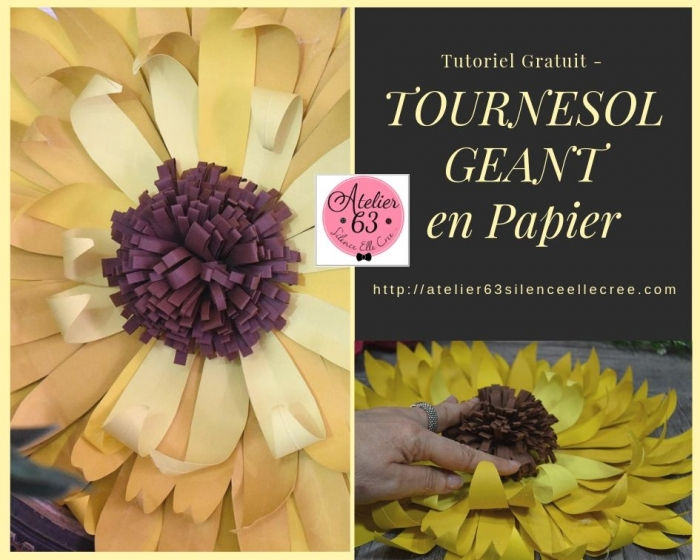 Atelier SCRAP DECO : Réaliser un TOURNESOL GEANT 3D en papier, VIDEO