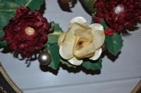 Atelier Scrap Déco : Réaliser une couronne de porte en papier, roses et dahlias, Vidéo