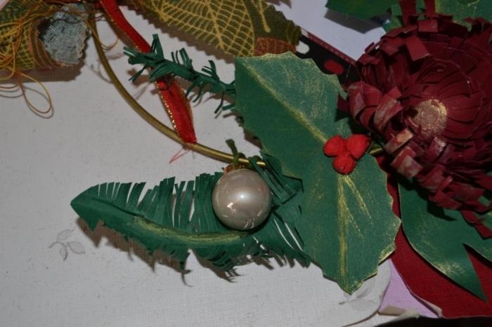 Atelier Scrap Déco  : tige de Sapin et tige de pin en papier pour couronne, tutoriel