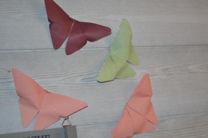 Atelier Scrap / ORIGAMI FACILE  : réaliser pliages création de Papillon TUTORIEL