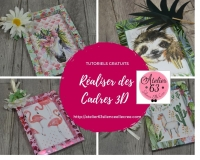 Atelier SCRAP : Réaliser des CADRES pour images ou photos, montage 3D papier scrap, VIDEO