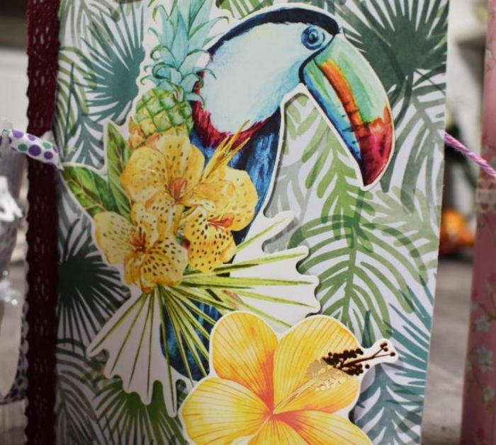 Atelier TUTO SCRAP : Réaliser  un FLIP BOOK - Exotisme & Tropical , TUTORIEL