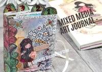 Atelier SCRAP/MIXED MEDIA/ART JOURNAL : Réalisation D'un LIVRET MIXED MEDIA ART JOURNAL,  DEFI ESTIVAL, carnet GORJUSS, TUTORIEL