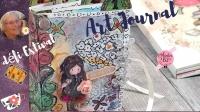 Atelier SCRAP/MIXED MEDIA/ART JOURNAL : Réalisation D'un LIVRET MIXED MEDIA ART JOURNAL,  DEFI ESTIVAL, carnet GORJUSS,  VIDEO