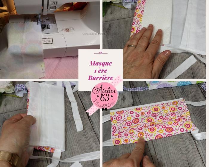 AtelierCOUTURE FACILE : CONFECTIONNER un MASQUE de PROTECTION en TISSU & utilisation Papier absorbant - DIY,, TUTORIEL