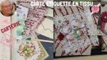 BLOC NOTES FICHE PRODUITS :  CARTE en TISSU ou ETIQUETTE CADEAU  , TUTORIEL