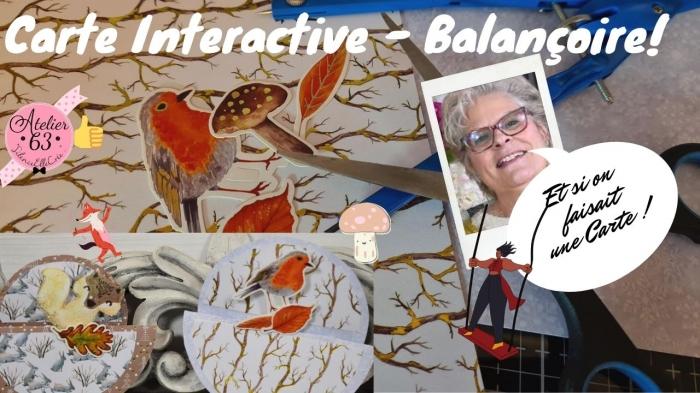 BLOC NOTES FICHE PRODUITS :  Cartes interactive montage balançoire image saison de l'Automne   , TUTORIEL