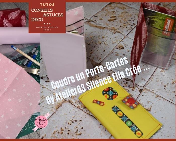 BLOC NOTES FICHE PRODUITS :  Fabriquer et coudre  UN PORTE-CARTES en cuir ou simili, ou encore en tissu , TUTORIEL