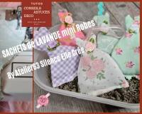 BLOC NOTES : FICHES PRODUITS  pour  Coudre des SACHETS de LAVANDE en forme de MINI ROBES, couture facile débutant,   TUTORIEL