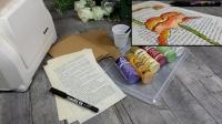 BLOC NOTES FICHES PRODUITS : Peindre sur feuilles de Vieux livres Technique ONE STROKE , TUTORIEL