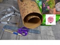 BLOC NOTES : FICHES PRODUITS pour réalisation CACHE POT TENDANCE en papier Imitation Cuir, TUTORIEL