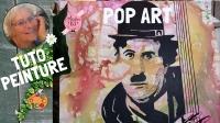 Atelier PEINTURE FACILE :  Réaliser un PORTRAIT POP ART / INSPIRATION ART VOKA  Portrait CHARLOT, VIDEO