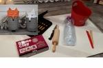 BLOC NOTES : FICHES PRODUITS pour recycler, MODELER  un VASE en forme de tête de Renard effet BETON, TUTORIEL