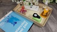 BLOC NOTES : FICHES PRODUITS pour ses embellissements papier Scrap FLEURS WATER COLOR , TUTORIEL
