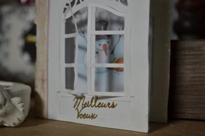 """Atelier CARTERIE : Fabriquer  une Carte de Voeux  """"Derrière la fenêtre"""", TUTORIEL"""
